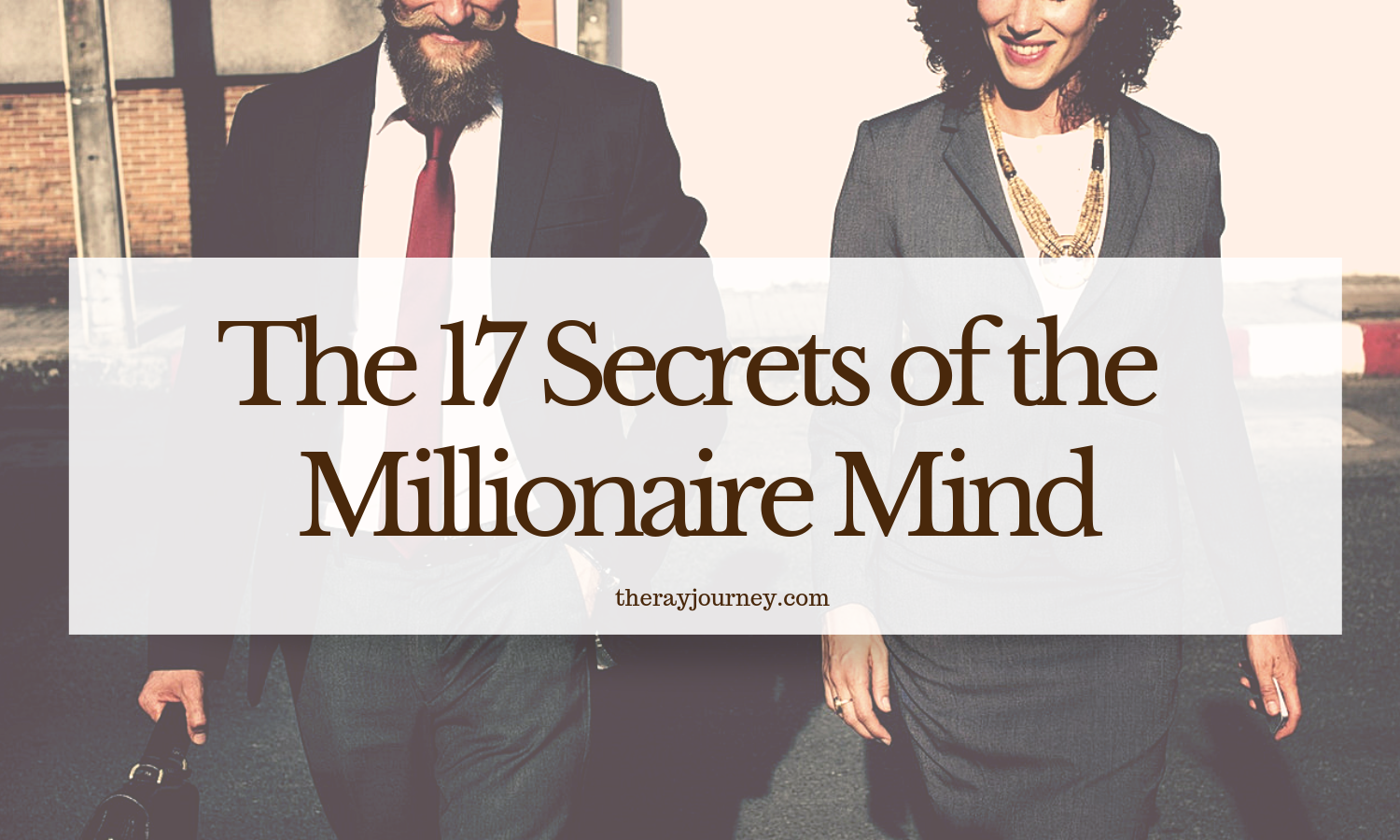 the 17 secrets of the millionaire mind - photo taken by rawpixel.com