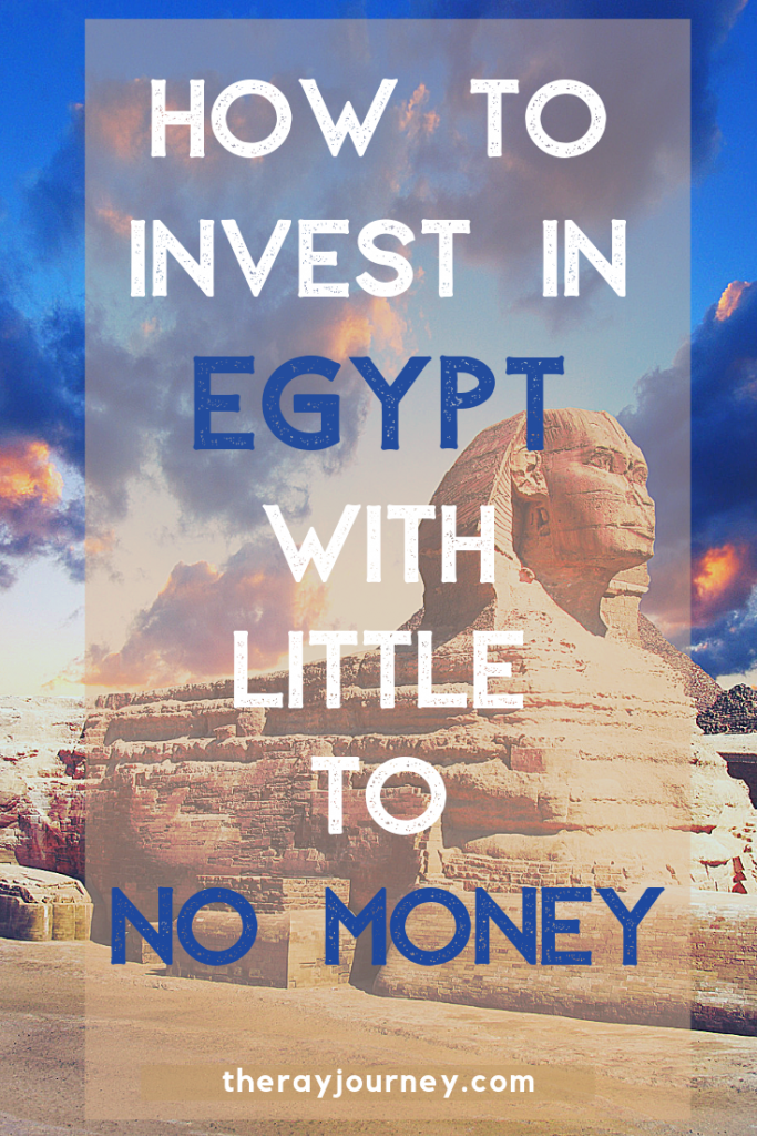 how to invest in egypt with little to no money. Passive income in egypt. Pinterest.