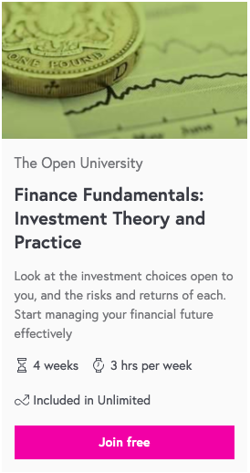 Finance Fundamentals: Investment Theory and Practice. The Open University